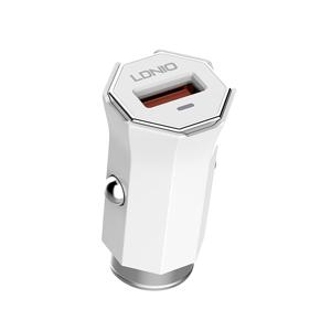 Slika od Auto punjac LDNIO C313Q USB 5V/3A FAST QC 3.0 Type C beli