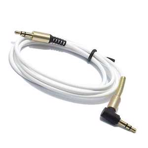 Slika od Audio AUX kabal SPRING THIN 1m beli