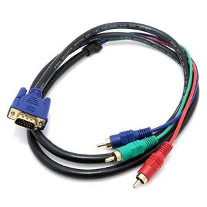 Slika od VGA kabal na 3RCA 1.5m crni