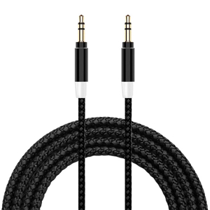 Slika od Audio AUX kabal Woven 3.5mm crni