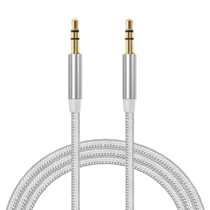 Slika od Audio AUX kabal Woven 3.5mm srebrni