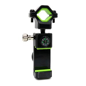 Slika od Drzac za mobilni telefon Q003 za bicikl sa svetlom i kompasom crno-zeleni
