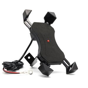 Slika od Drzac za mobilni telefon ZM-004 za motor sa punjacem crni