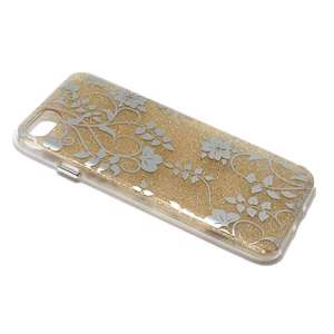 Slika od Futrola GLITTER FLOWERS za Iphone 7/8 model 2 zlatna
