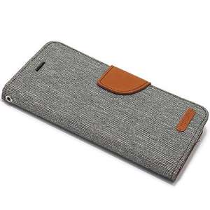 Slika od Futrola BI FOLD MERCURY Canvas za Iphone X/XS siva