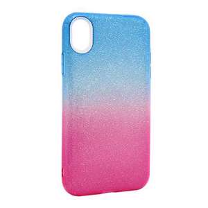 Slika od Futrola DOUBLE GLITTER za Iphone XR plavo/pink