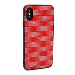 Slika od Futrola Glitter Plaid za Iphone X/XS crvena