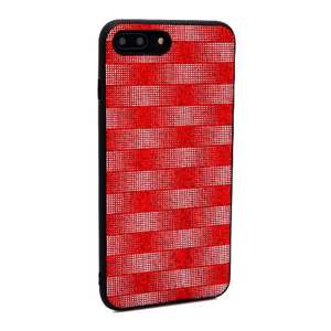 Slika od Futrola Glitter Plaid za Iphone 7 Plus/8 Plus crvena