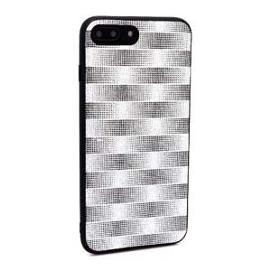 Slika od Futrola Glitter Plaid za Iphone 7 Plus/8 Plus srebrna
