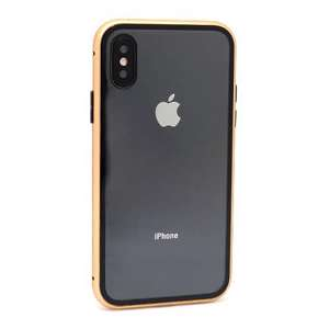 Slika od Futrola Full Cover magnetic frame za Iphone X/XS zlatna