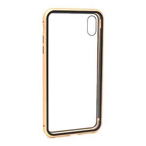 Slika od Futrola Full Cover magnetic frame za Iphone XS Max zlatna