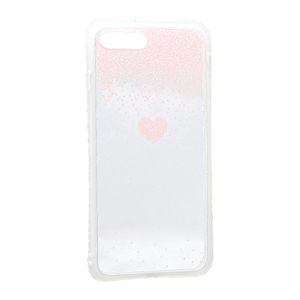 Slika od Futrola Sparkling heart za Iphone 7 Plus/8 Plus roze