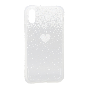 Slika od Futrola Sparkling heart za Iphone XR srebrna
