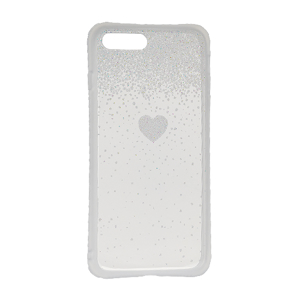 Slika od Futrola Sparkling heart za Iphone 7 Plus/8 Plus srebrna