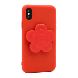 Slika od Futrola Flower Mirror za Iphone X/XS crvena
