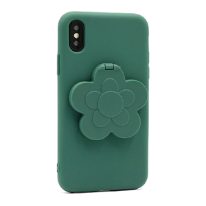 Slika od Futrola Flower Mirror za Iphone X/XS zelena