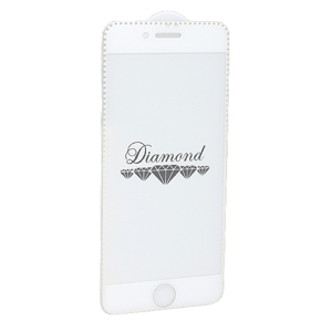 Slika od Folija za zastitu ekrana GLASS 5D DIAMOND za Iphone 7 Plus/8 Plus bela