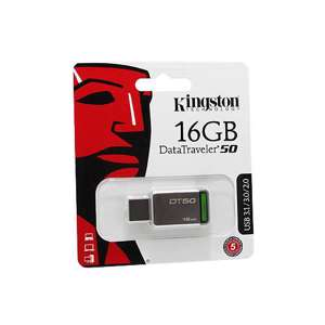 Slika od USB Flash memorija Kingston 16GB 3.0 srebrno-zelena