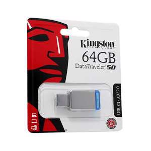 Slika od USB Flash memorija Kingston 64GB 3.0 srebrno-plava