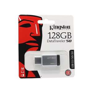 Slika od USB Flash memorija Kingston 128GB 3.0 srebrno-crna