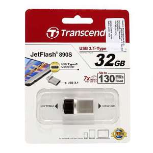 Slika od Transcend OTG flash memorija  32GB USB-Type C srebrna