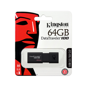 Slika od USB Flash memorija Kingston 64GB 3.0 crna