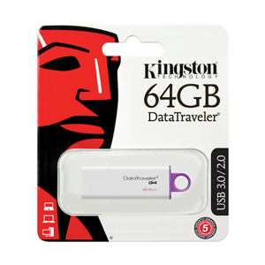 Slika od USB Flash memorija Kingston 64GB G4 bela