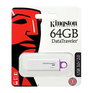Slika od USB Flash memorija Kingston 64GB 3.0 srebrno-ljubicasta