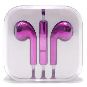 Slika od Slusalice za Iphone 3.5mm metalik pink