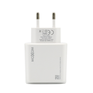 Slika od Kucni punjac Moxom MX-HC20 2xUSB 5V/2.4A microUSB beli