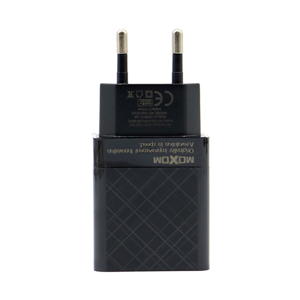 Slika od Kucni punjac Moxom MX-HC22 2xUSB 5V/2.4A Type C crni