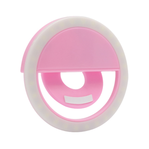 Slika od Selfie ring light portable roze