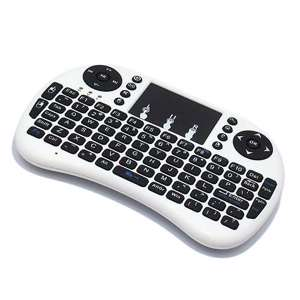 Slika od USB wireless mini tastatura touchpad bela