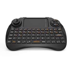 Slika od USB wireless mini tastatura X3 touchpad crna