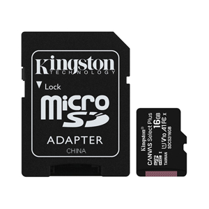 Slika od Memorijska kartica Kingston Select Plus Micro SD 16GB Class 10 UHS U1 100MB/s + SD adapter