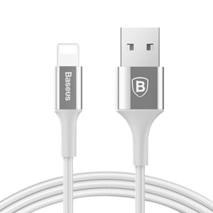 Slika od USB data kabal BASEUS SHINING za Iphone lightning 1m srebrni