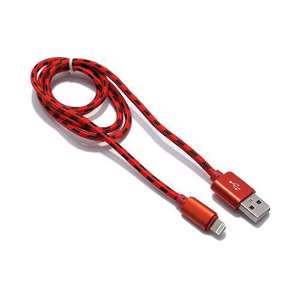 Slika od USB data kabal BRAID za Iphone lightning 1m crveni