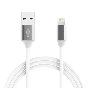 Slika od USB data kabal Q Elastic 2.4A Iphone lightning beli