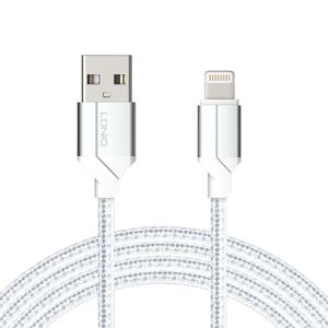 Slika od USB data kabal LDNIO LS392 za Iphone lightning 2m srebrni