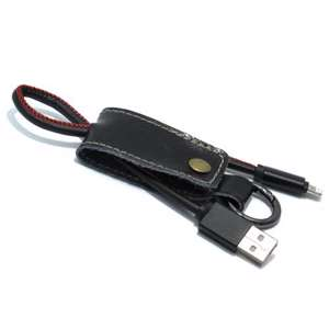Slika od USB data kabal Pendant za Iphone lightning crni